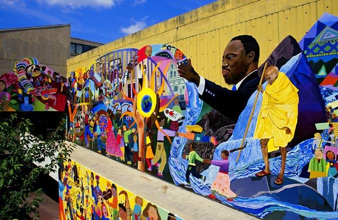 David fichter student mural portfolio boston murals for Elementary school mural ideas