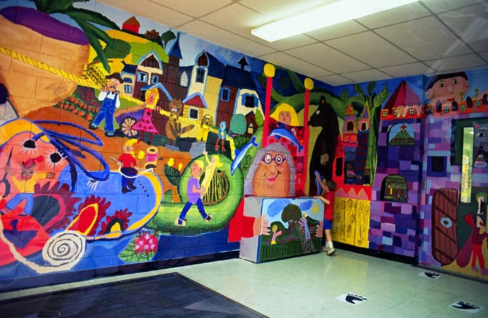 David fichter student mural portfolio boston murals for Elementary school mural
