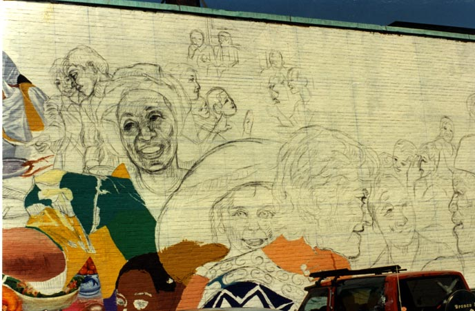 David fichter step by step mural process boston murals for Mural painting images